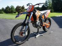 This is a 2008 KTM 450 SXF that I bought new in 2011.
