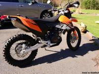 This KTM 690 Enduro has only 381 miles, and is as good