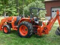 FOR SALE: 2008 KUBOTA L3240 HST 4WD TRACTOR w/ FRONT