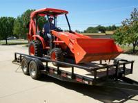 2008 Kubota L39 4x4 Compact Tractor Loader, Backhoe,