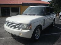 2008 LAND ROVER RANGE ROVER HSE AND LOADED. AN ABSOLUTE