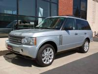 This 2008 Zermatt Silver Range Rover Supercharged is an