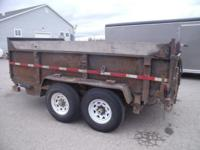 "(989) 607-4841 ext.143 83"" x 12' USED Open Dump Trailer"
