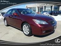 Recent Arrival! 2008 Lexus ES 350 Royal Ruby Metallic
