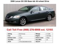 2008 Lexus IS250 Red Base 4dr All-wheel Drive Sedan