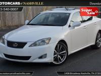 This 2008 Lexus IS 250 4dr features a 2.5L V6 CYLINDER