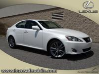 Climb inside this WHITE 2008 Lexus IS 250. This IS 250