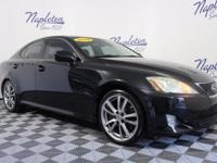 2008 Lexus IS Black Clean CARFAX. Tech Package, Rear