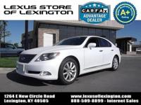 Local trade in, Lexus Certified, CARFAX Certified,
