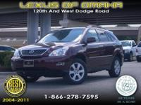 2008 MAROON RX350 EQUIPPED WITH LEATHER INTERIOR
