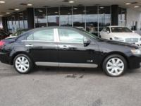 Our 2008 Black Lincoln MKZ Sedan gets up and goes with
