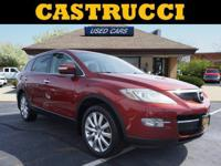 Recent Arrival! CARFAX One-Owner.   Red 2008 Mazda CX-9