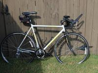 This is a 2008 Motobecane Mirage Pro road bike. It is a
