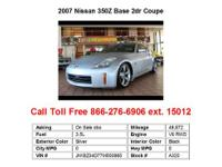 2008 Nissan 350Z Base 2dr Coupe Coupe 2 Doors Gray RWD