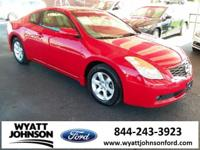 Clean CARFAX. Red 2008 Nissan Altima 2.5 S FWD 2.5L