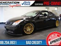 2D Coupe, Black, and 2008 Nissan Altima. GPS Nav!