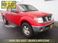 Red 2008 Nissan Frontier SE I4 4WD 5-Speed Automatic