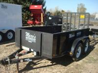 REAL NICE ONE OWNER TRAILER HARDLEY USED, 5X10, TANDEM