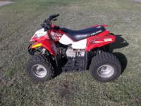 ONLINE AUCTION: 2008 POLARIS OUTLAW ATV  49CC BIDDING