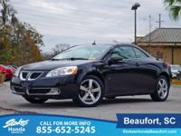 Clean CARFAX. Black 2008 Pontiac G6 GT FWD 4-Speed
