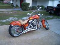 2008 Pro Street Softail in Excellent Condition- - Burnt