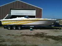 2008 Profile 331V Offshore 87 hours on twin 496 HO's