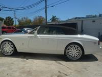 2008 ROLLS ROYCE PHANTOM DROPHEAD WHITE OVER CREAM