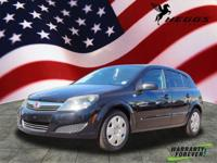 Clean CARFAX. Black 2008 Saturn Astra XE FWD 1.8L