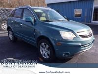 New Price! Clean CARFAX. Sea Mist Green 2008 Saturn VUE