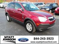CARFAX One-Owner. Clean CARFAX. Ruby Red 2008 Saturn