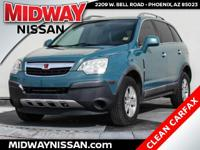 2008 Saturn VUE XE Sea Mist Green ECOTEC 2.4L I4 MPI