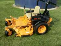 "Scag 48"" zero turn lawn mower with 26 hours on machine."