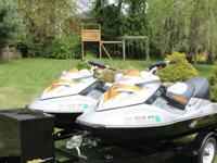 ,,,,.,2008 Sea-Doo RXT 255's on tandem Zieman trailer