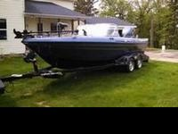 2008 Skeeter WX2100 Fishing Boat with Trailer. Single