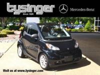 Deep Black Fortwo Passion RWD, 1-Owner, Check out the