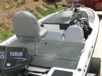17?6? Bass Boat, powered by a Yamaha 50 with tilt and