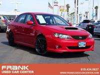 CARFAX One-Owner. Lightning Red 2008 Subaru Impreza WRX