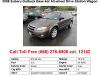 2008 Subaru Outback Base 4dr All-wheel Drive Station