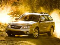 Clean CARFAX. Black 2008 Subaru Outback 2.5XT Limited