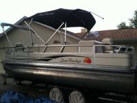 2008 21ft Sun Tracker Fishing Barge. Three fishing