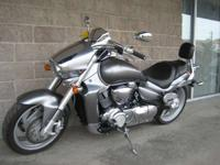 This clean V-Twin comes with a passenger backrest and