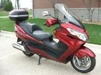 Up for grabs is my 2008 Suzuki Burgman 400. I am the