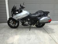 This is a clean example of a Suzuki V Strom, DL 1000.
