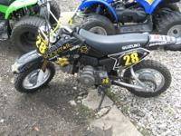 We are selling a very clean 2008 Suzuki DRZ70 dirt bike