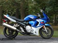 Up for sale is a 2008 Suzuki GSX 650 F with a clean and