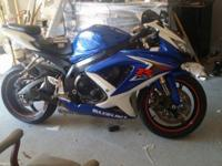 Excellent condition gsxr recently changed oil filter