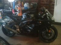 2008 GSXR 750. Two tone matte/gloss black 5234 miles.