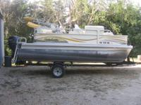 Pre-owned Goldenrod in color 2008 Sweetwater Pontoon