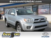 LEATHER. 4Runner Limited V6 and 4D Sport Utility. 4WD!