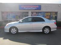 This is a beautiful SILVER 2008 TOYOTA COROLLA 4 DOOR